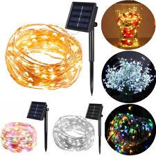 100/200 LED Solar Lichterkette Lichtschlauch Außenbeleuchtung Garten Party Deko