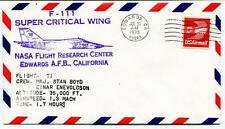 1974 F 111 Super Critical Wing Flight 71 Research Center Edwards Enevoldson NASA