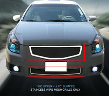 Stainless Steel Mesh Grille Combo Insert For Nissan Maxima 2007-2008