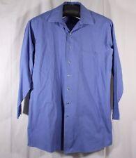 Geoffrey Beene Wrinkle Free Tall Size 18.5 35/36 Blue Stripe Long Sleeve Shirt