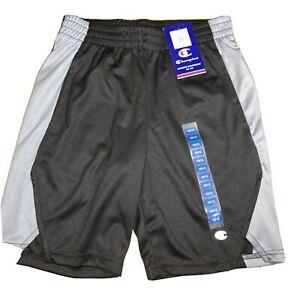 New NWT Champion Pull On Athletic Sport Shorts Black & Gray Boys 10-12