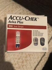 Accu-Chek Aviva Plus Glucose Blood Test Strips - 100 Count