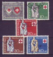 Briefmarken aus der Schweiz mit Rotes Kreuz-Motiv