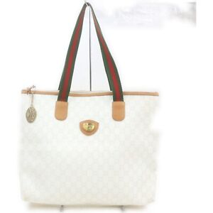 Gucci Shoulder Bag  Whites PVC 1216637