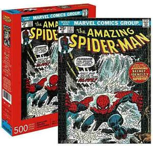500 piece Puzzle MARVEL Comic Cover The Amazing SPIDERMAN Licensed AQUARIUS