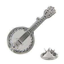 Detailed Banjo Metal Pin Badge folk music musician ukulele irish guitar AJTP153