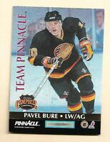 (1) BURE / STEVENS 1992-93 TEAM PINNACLE # 4   NRMT-MT CARD (H0080)