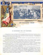 C5555) TORINO, LE BANDIERE DEL 49 REGGIMENTO FANTERIA, 24 GIUGNO 1909.