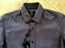 Hugo Boss Black Label Lukas Button Down Shirt Mens S Regular Black/Rasp NWT $165