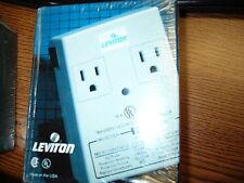 Leviton Duplex Plug-In Surge Suppressor with Telephone Line Suppression 5100-PT