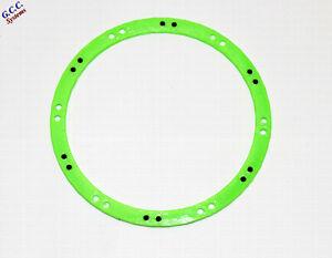 2x Traxxas X-Maxx Wheels Beadlock Look Rim Trims (ABS) Green With Black Screws