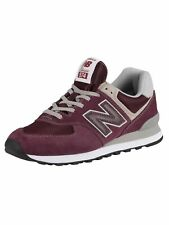New Balance Men's 574 Suede Trainers, Red