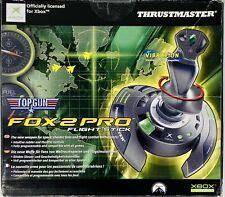 Original Xbox Fox 2 Pro Joystick Controller Thrustmaster Flight Stick Top Gun