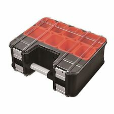 Tactix DOUBLE SIDED ORGANISER with 8 Removable Bins & Dividers for Home Handyman