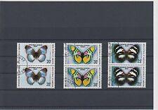 Echte Briefmarken aus Afrika mit Schmetterlings-Motiv