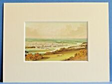 PERTH FROM KINNOUL HILL SUPERB QUALITY RARE ANTIQUE MOUNTED CHROMO PRINT 8X6 OLD