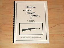 Crosman Model M1 Repeating Air Rifle Factory Service Manual - #C2