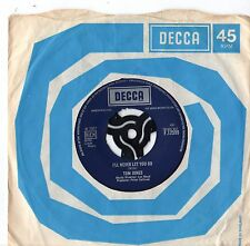 "Tom Jones - I'll Never Let You Go. 7"" Single 1967"
