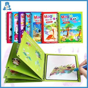 Reusable Coloring Magic Water Drawing Book Writing Board Painting Book for Kids
