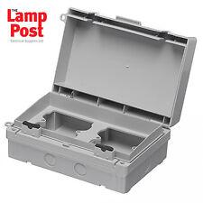 Europa ecwsk21-IP65 DUAL 2x1 TWIN GANG Socket Enclosure Box