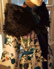 faux fur black stole wrap FABULOUS never worn one size fits all