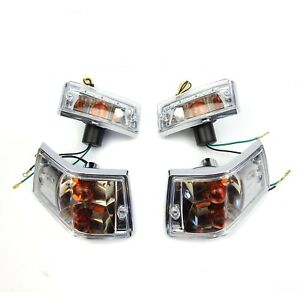 Vespa PX PE T5 LML Lexus Style Indicator Units With Built In LED Running Lights