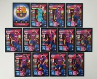 2019/20 Match Attax UEFA Soccer Cards - Barcelona Team Set inc Messi (13 cards)