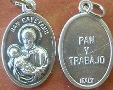 Saint St. San Cayetano Cajetan Pan Y Trebajo / Bread & Work Medal + Unemployed