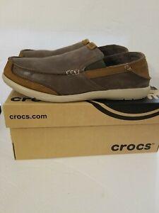 Crocs Walu Express Leather Loafer Chocolate/Hazelnut preowned