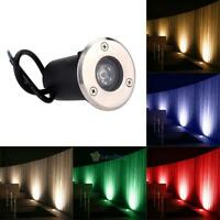 Waterproof 1W LED Inground Outdoor Garden Path Night Light Spot Underground Lamp