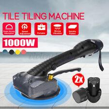 1000W Tile Tiling Machine w/2 Batteries Vibrator Suction Floor Leveling Tool Usa