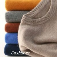Men's Slim Knitted Cashmere Jumper Pullover Elasticity Cozy Sweater Cardigan