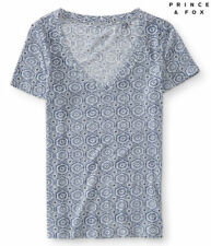 NEW Aeropostale Prince & Fox Women's Geometric V Neck Graphic T-Shirt Size M