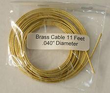 "Brass Cable for Weight Regulator Clocks, .040"" x 11'"