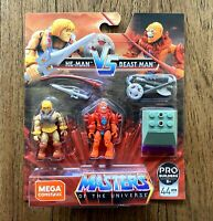 He-Man vs Beast Man Mega Construx MOTU Masters Of The Universe Figures Set New