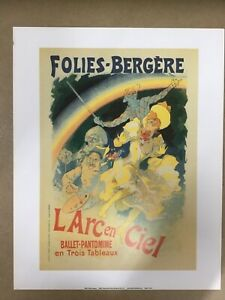 Vintage art print 'folies bergere' - french advertising, theatre