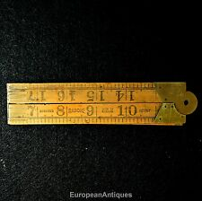 "Antique Boxwood Folding Ruler 24"" No. 1167 Rabone & Sons Made In England"