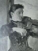 Max KLINGER (1857-1920) - Portrait, ca. 1890, 29,5 cm x 38 cm