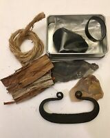 MOAB Flint and Steel Kit Survival FORGED C-Style VIKING FIRE STEEL EDC Scouting