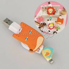 Cartoon Retractable USB Charger Data Cable Charging Accessories For Iphone 6/5s