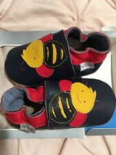 bobux baby shoes- Red, Navy Blue & Yellow- W/ Bumblebee (15-21 Months)