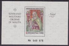 SMOM 1977 - NATALE - CHRISTMAS - IL PERUGINO - S. 2 - FOGLIETTO MNH