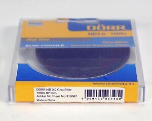 DÖRR DIGI LINE ND 3.0 (10 Blenden) SLIM NEUTRAL DICHTE FILTER 67mm