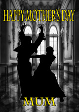 Paso Doble Ballroom nmd215 Fun Cute Mother's Day Card A5 Personalised Greetings