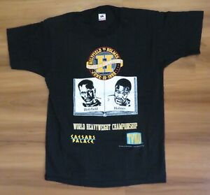 EVANDER HOLYFIELD v LARRY HOLMES Original 6/19/1992 Sz L / XL T-SHIRT Never Worn
