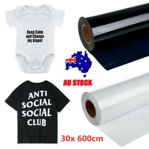 "12""x 20FT Heat Transfer Vinyl Iron HTV Paper Cricut & Silhouette T-shirt Garment"