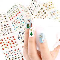 Decoraciones de uñas Adhesivos calcomanias 3d nail sticker Manicura de Navidad