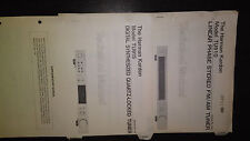 Harman Kardon tu915 Service Manual Stereo Radio Tuner Original 2 Bücher