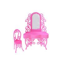 1Set Plastic Dresser with Mirror For  DoLJs Home Decor Girls Gift fi