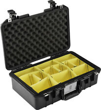 Black Pelican 1485 Air case with padded dividers.